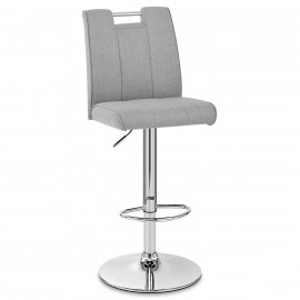 Chaise de Bar Tissu Chrome - Loco