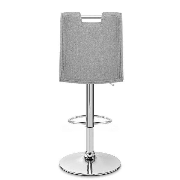 Chaise de Bar Tissu Chrome - Loco Gris