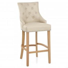 Chaise de bar Cuir Crouté Chêne - Ascot