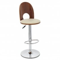 Chaise de Bar Bois Chrome - Bolero