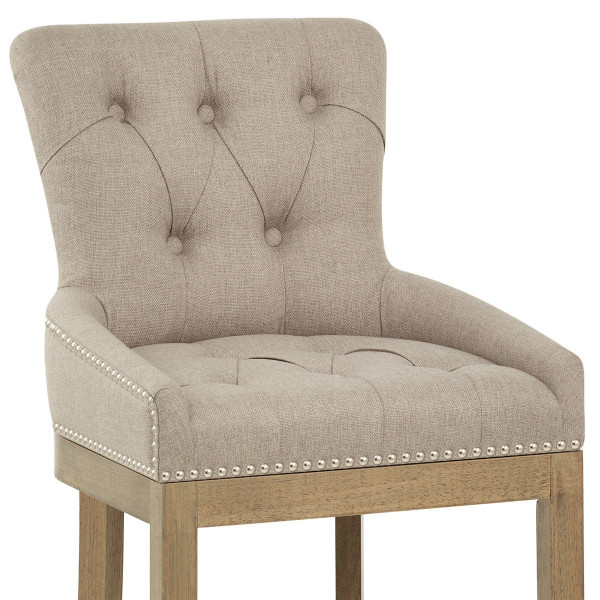 Knightsbridge Oak Stool Fabric