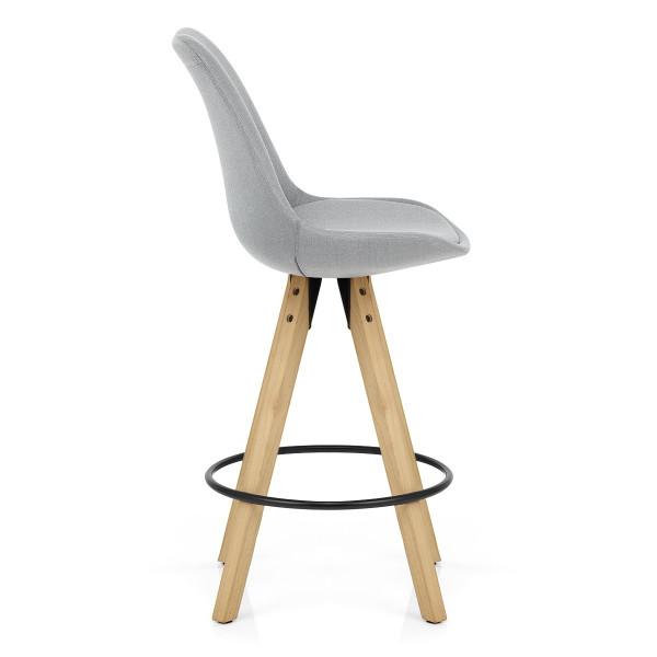 Chaise de bar Bois Tissu - Aéro Gris