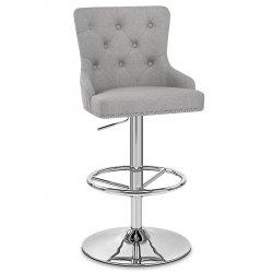 Chaise de Bar Tissu Chrome - Manor