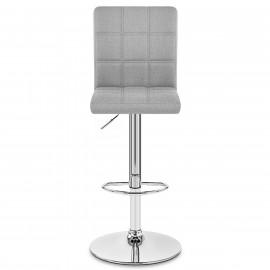 Chaise de Bar Tissu Chrome - Criss Cross