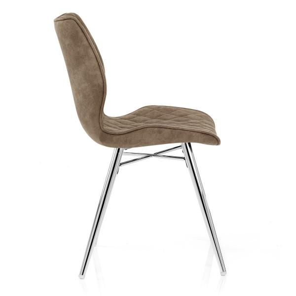 Chaise Faux Cuir Antique - Lux Marron