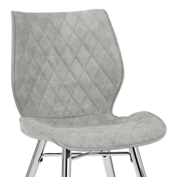 Chaise Faux Cuir Antique - Lux Gris