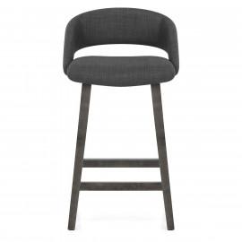 Chaise de Bar Bois Tissu - Halo