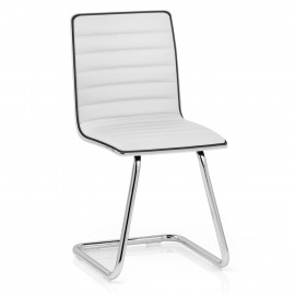 Chaise Faux Cuir Chrome - Vesta