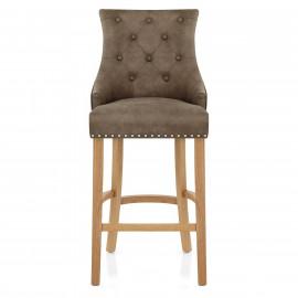 Chaise de Bar Chêne Faux Cuir - Ascot