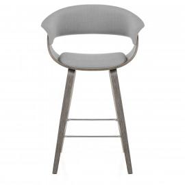 Chaise de Bar Bois Tissu - Alexis