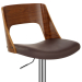 Chaise de Bar Bois Chrome - Carmen Marron