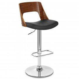 Chaise de Bar Bois Chrome - Carmen