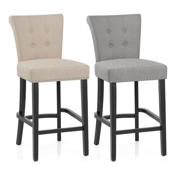 Chaise de Bar Tissu - Buckingham Crème