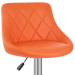 Chaise de Bar Faux Cuir - Stitch Orange