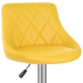 Chaise de Bar Faux Cuir - Stitch Jaune