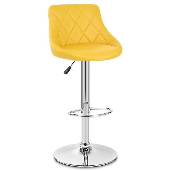 Chaise de Bar Faux Cuir - Stitch Jaune