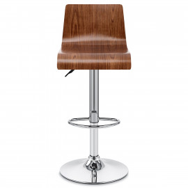 Tabouret de Bar Chrome Bois - Slink