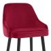 Chaise de Bar Bois Velours - Glam Rouge