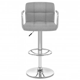 Chaise de Bar Chrome Tissu - Maze