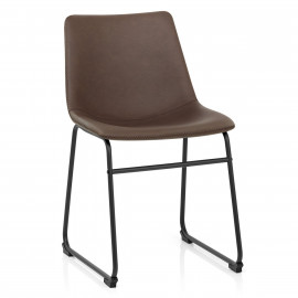 Chaise Simili Cuir - Bucket