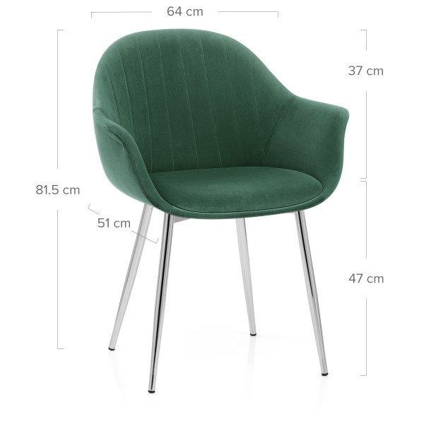 Chaise Métal Velours - Flare Vert