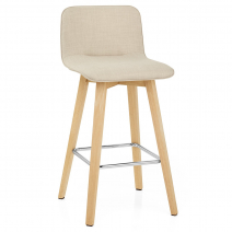 Chaise de Bar Chêne Tissu - Tide