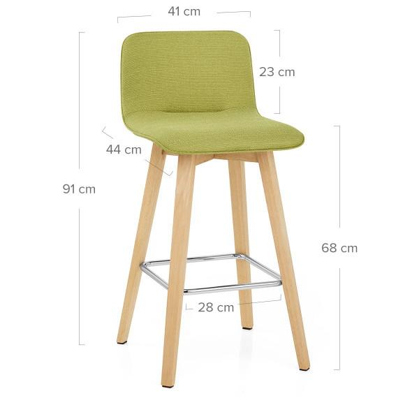 Chaise de Bar Chêne Tissu - Tide Vert