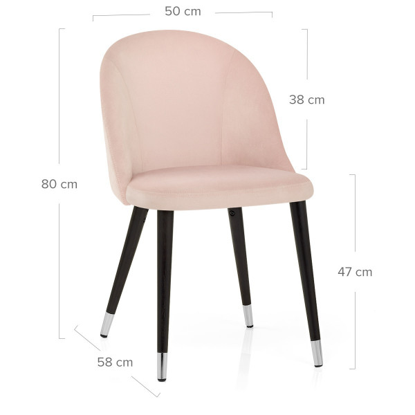 Chaise Bois Velours - Polo Rose