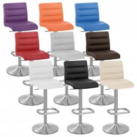 Chaise de Bar Faux Cuir Chrome Brossé - Lush