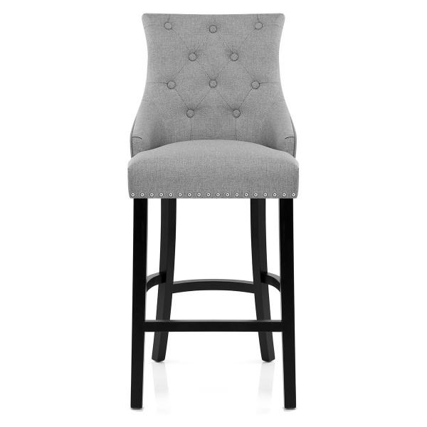 Chaise de Bar Bois Tissu - Ascot Gris