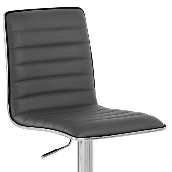 Chaise de Bar Faux Cuir Chrome - Hiline