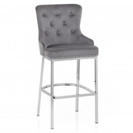 Chaise de Bar Velours Métal - Grange