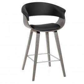 Chaise de Bar Bois Faux Cuir - Alexis