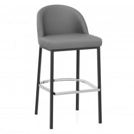 Chaise de Bar Faux Cuir Métal - Milo