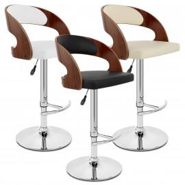 Chaise de Bar Bois Chrome - Eve Noyer