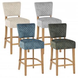 Chaise de Bar Chêne Velours - Ramsay