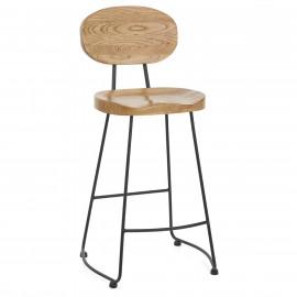 Chaise de Bar Bois Métal - Dual