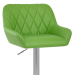 Chaise de Bar Simili Cuir Chrome Brossé - Detroit Vert