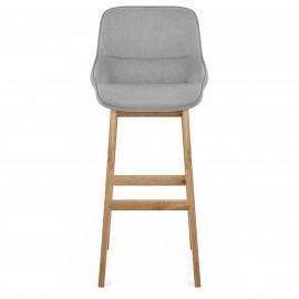 Chaise de Bar Bois Tissu - Miami