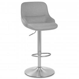 Chaise de Bar Tissu Chrome Brossé - Florida