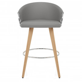 Chaise de Bar Faux Cuir Bois - Neo