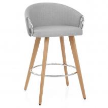 Chaise de Bar Tissu Bois - Neo