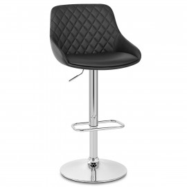 Tabouret de Bar Faux Cuir Chrome - Palace