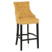 Chaise de Bar Bois Tissu - Ascot Jaune