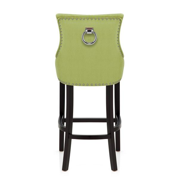 Chaise de Bar Bois Tissu - Ascot Vert