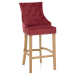 Chaise de Bar Chêne Tissu - Ascot Rouge