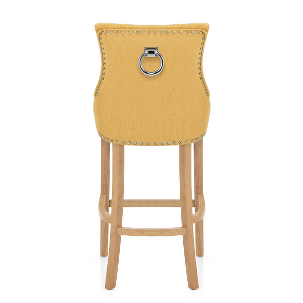 Chaise de Bar Chêne Tissu - Ascot Jaune