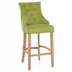 Chaise de Bar Chêne Tissu - Ascot