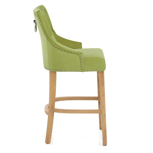 Chaise de Bar Chêne Tissu - Ascot Vert