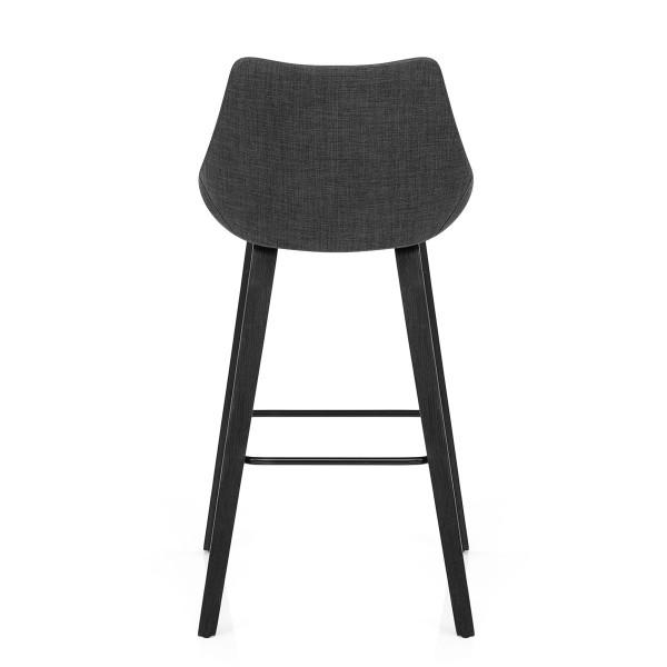 Chaise de Bar Tissu - Regent Gris Foncé